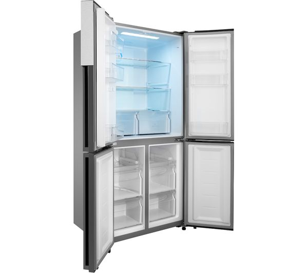 haier htf 456dm6 60 40 fridge freezer stainless steel fast delivery currysie. Black Bedroom Furniture Sets. Home Design Ideas