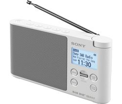 SONY XDR-S41D Portable DAB+/FM Clock Radio - White