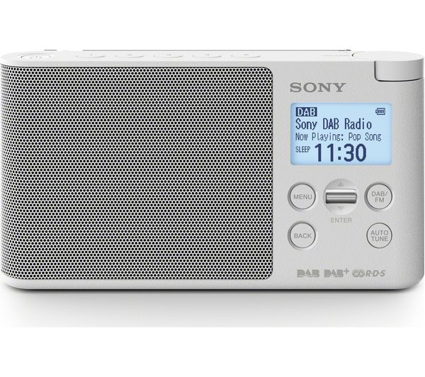 buy sony xdr s41d portable dab fm radio white free delivery currys. Black Bedroom Furniture Sets. Home Design Ideas