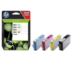 HP 364XL High Yield Original Cyan, Magenta, Yellow & Black Ink Cartridges - Multipack
