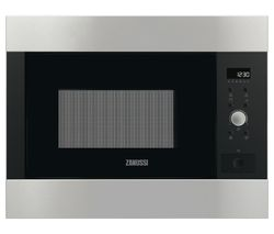 ZANUSSI ZBG26642XA Built-In Microwave with Grill - Brushed Steel