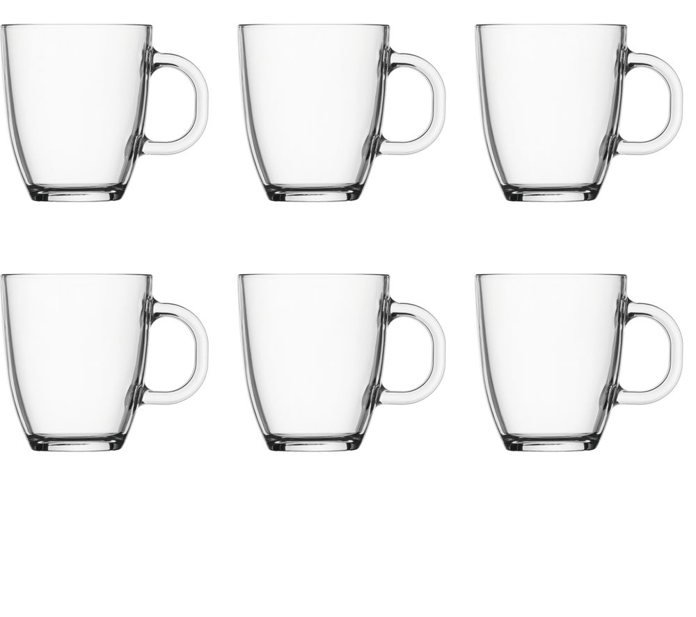 BODUM Coffee Mug 0.35 litre - Clear, Pack of 6