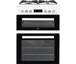 Pro KDDF653W 60 cm Dual Fuel Cooker - White