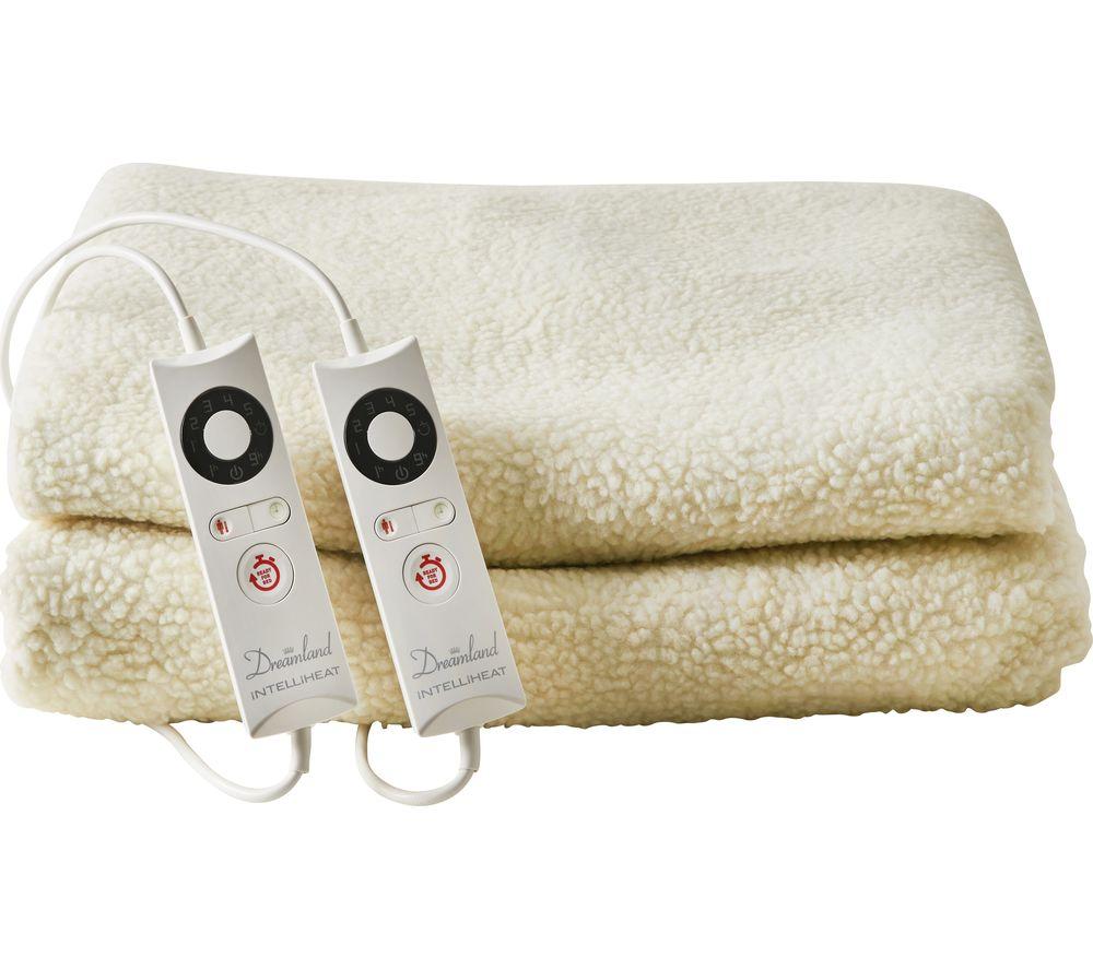 buy dreamland premium fleece mattress protector double. Black Bedroom Furniture Sets. Home Design Ideas
