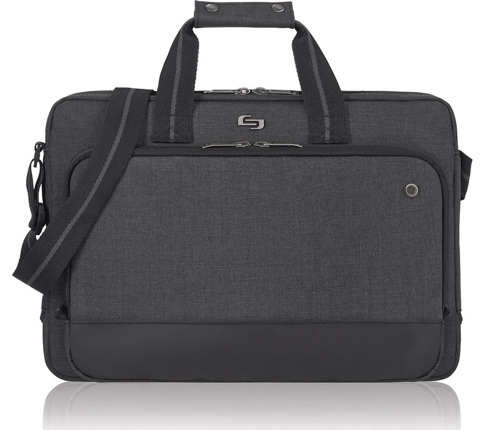 "SOLO Astor Slimline 15.6"" Laptop Bag - Grey"