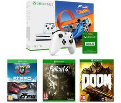 MICROSOFT Xbox One S, Games & Accessories Bundle