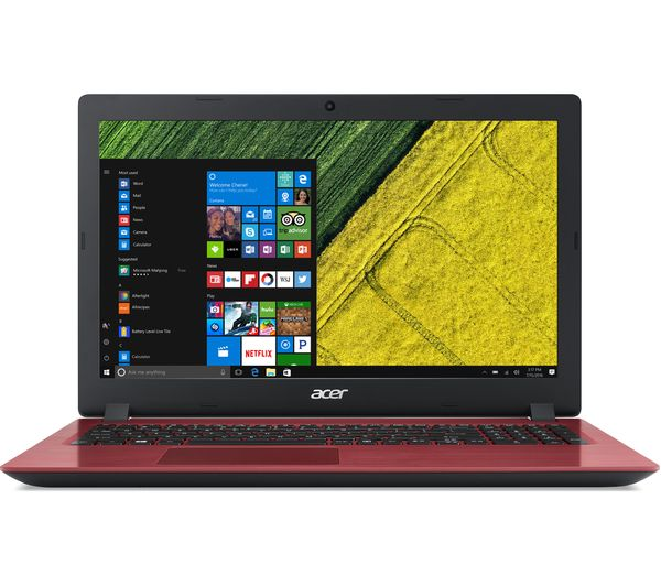 "Image of ACER Aspire 3 15.6"" Intel® Core™ i3 Laptop - 1 TB HDD, Red"
