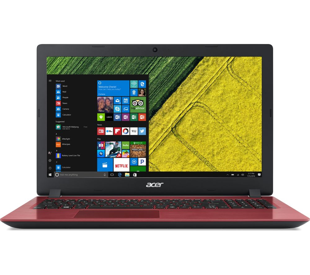 "Image of ACER Aspire 3 15.6"" Intel® Core™ i3 Laptop - 1 TB HDD, Red, Red"