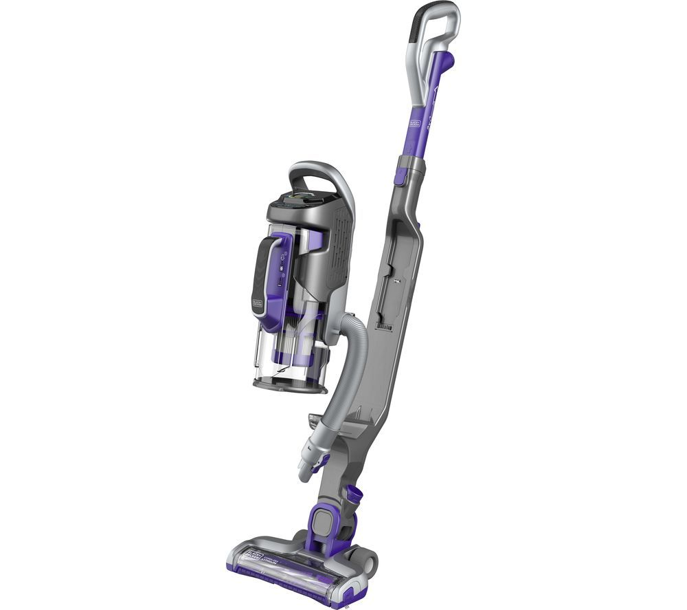 Image of BLACK DECKER Multipower Pet CUA525BHP-GB Cordless Vacuum Cleaner - Purple & Grey, Black
