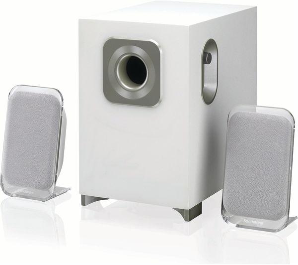 SANDSTROM SSP21BT19 2.1 Wireless PC Speakers White