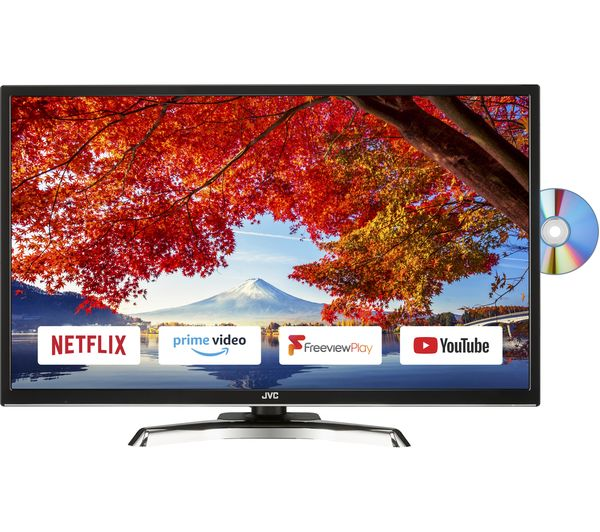 """JVC LT-32C795 32"""" Smart LED TV with Built-in DVD Player"""