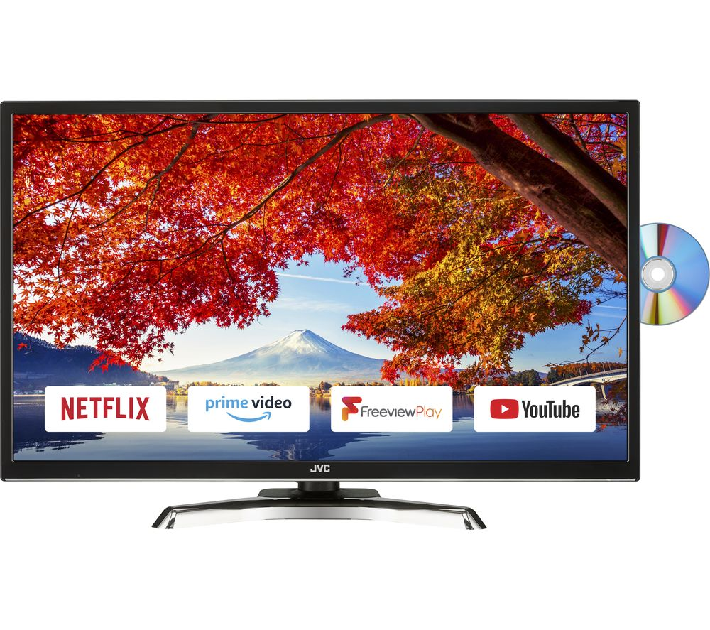"Image of 32"" JVC LT-32C795 Smart LED TV with Built-in DVD Player"