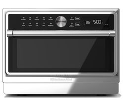KITCHENAID KMQFX 33910 Combination Microwave - Silver & Black