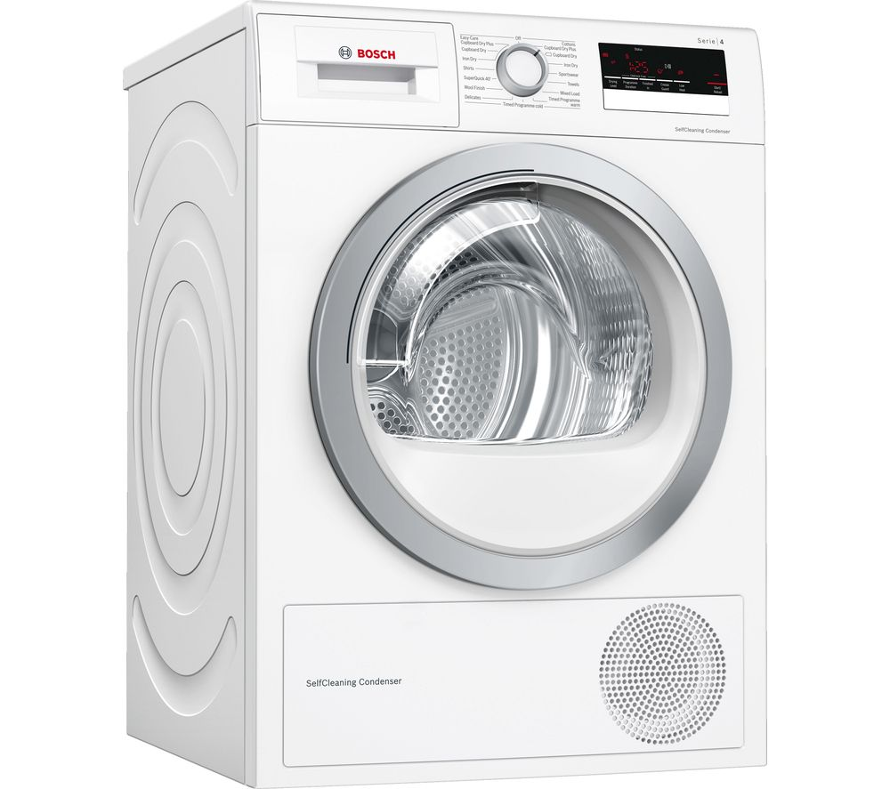 BOSCH Serie 4 WTW85231GB 8 kg Heat Pump Tumble Dryer - White