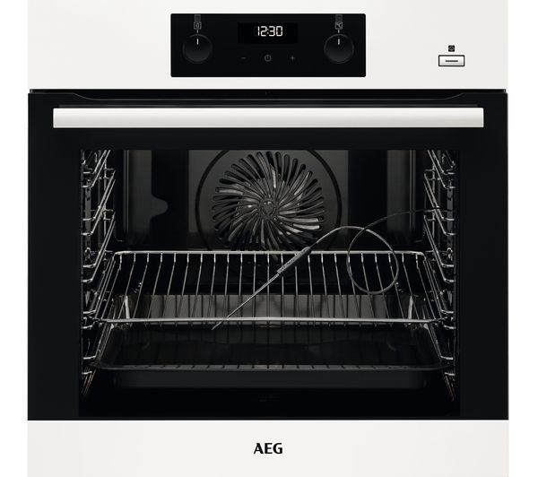 AEG SteamBake BES356010W Electric Steam Oven - White