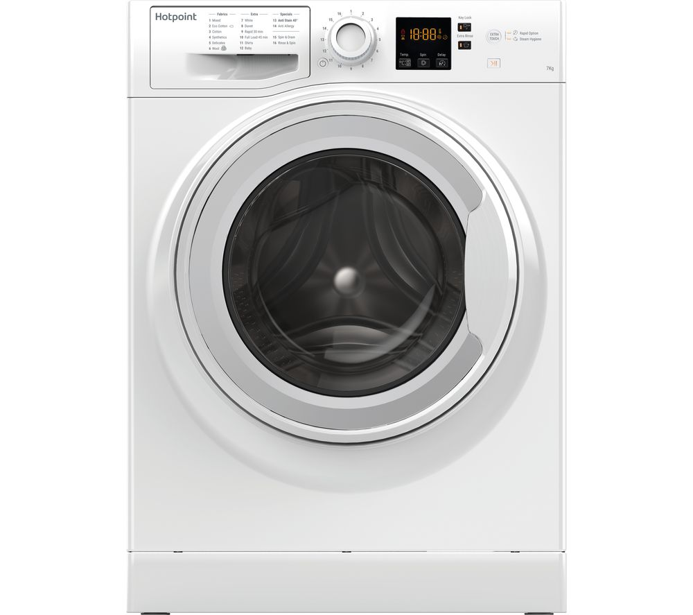 HOTPOINT NSWR 743U WK UK 7 kg 1400 Spin Washing Machine - White