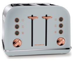 Accents 242040 4-Slice Toaster - Grey & Rose Gold