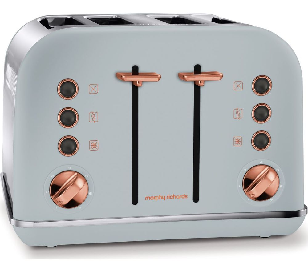 242040 4-Slice Toaster - Grey & Rose Gold, Grey