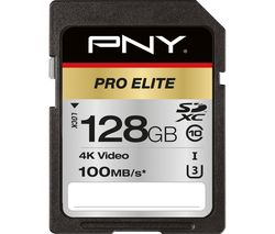 Pro Elite Class 10 SDXC Memory Card - 128 GB