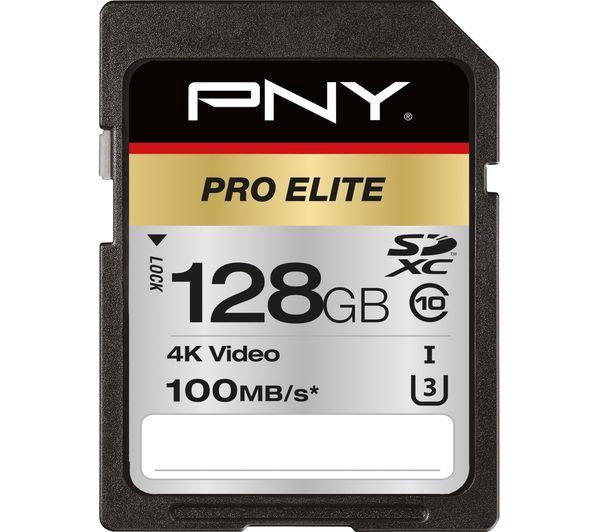 Image of PNY Pro Elite Class 10 SDXC Memory Card - 128 GB