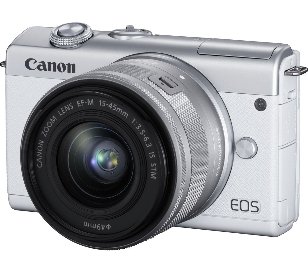 Click to view product details and reviews for Canon Eos M200 Mirrorless Camera With Ef M 15 45 Mm F 35 63 Is Stm Lens White White.