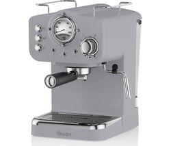 Retro Pump Espresso SK22110GRN Coffee Machine - Grey