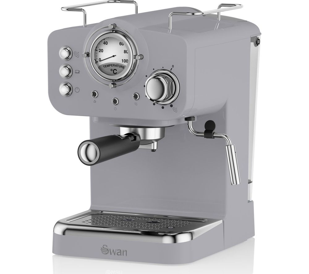 Image of Retro Pump Espresso SK22110GRN Coffee Machine - Grey, Grey