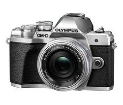 OLYMPUS OM-D E-M10 Mark III Mirrorless Camera with M.ZUIKO DIGITAL ED 14-42 mm f/3.5-5.6 EZ & ED 40-150 mm f/4-5.6 R Lens - Silver