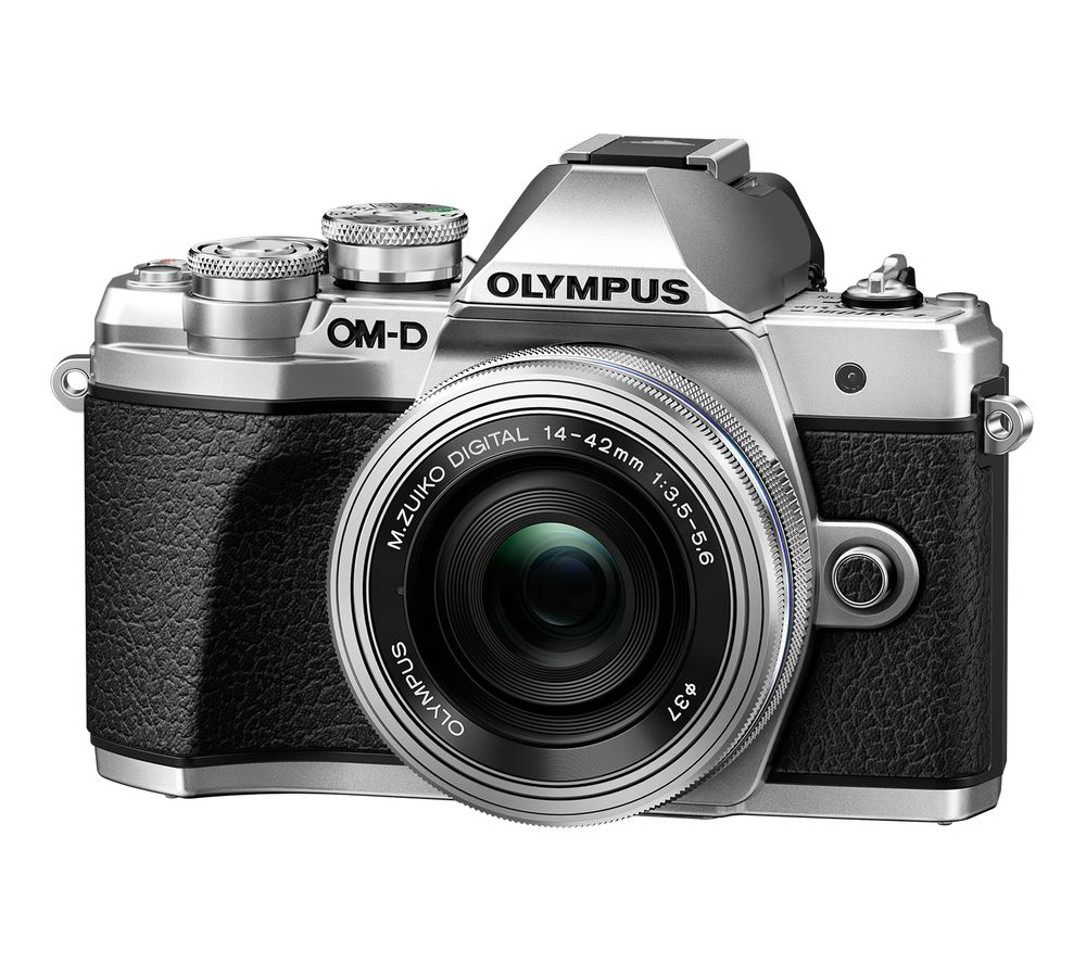 Image of OLYMPUS OM-D E-M10 Mark III Mirrorless Camera with M.ZUIKO DIGITAL ED 14-42 mm f/3.5-5.6 EZ & ED 40-150 mm f/4-5.6 R Lens - Silver, Silver