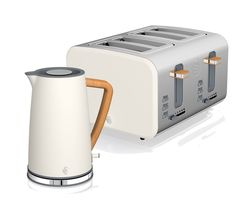 Nordic 4-Slice Toaster & Jug Kettle Bundle - White
