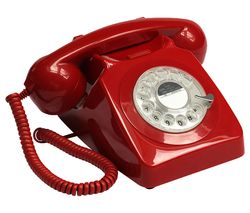 746 Rotary Corded Phone - Red