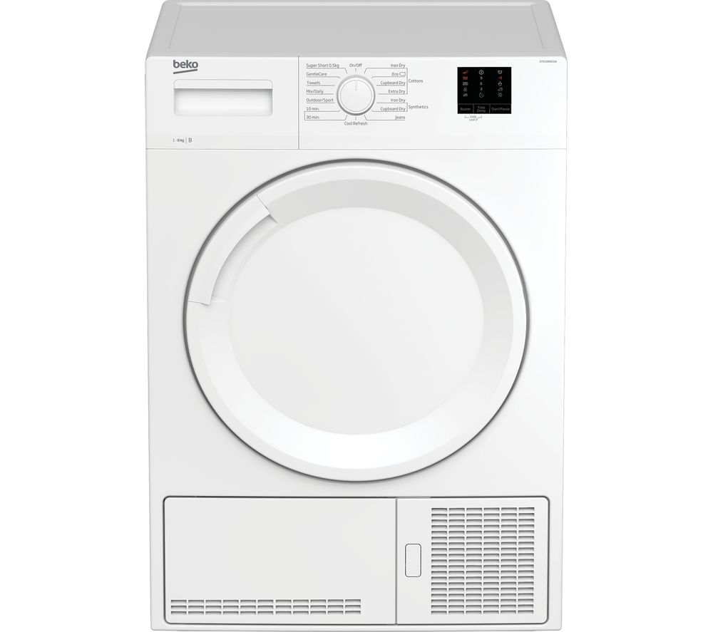 Image of BEKO DTKCE80021W 8 kg Condenser Tumble Dryer - White, White