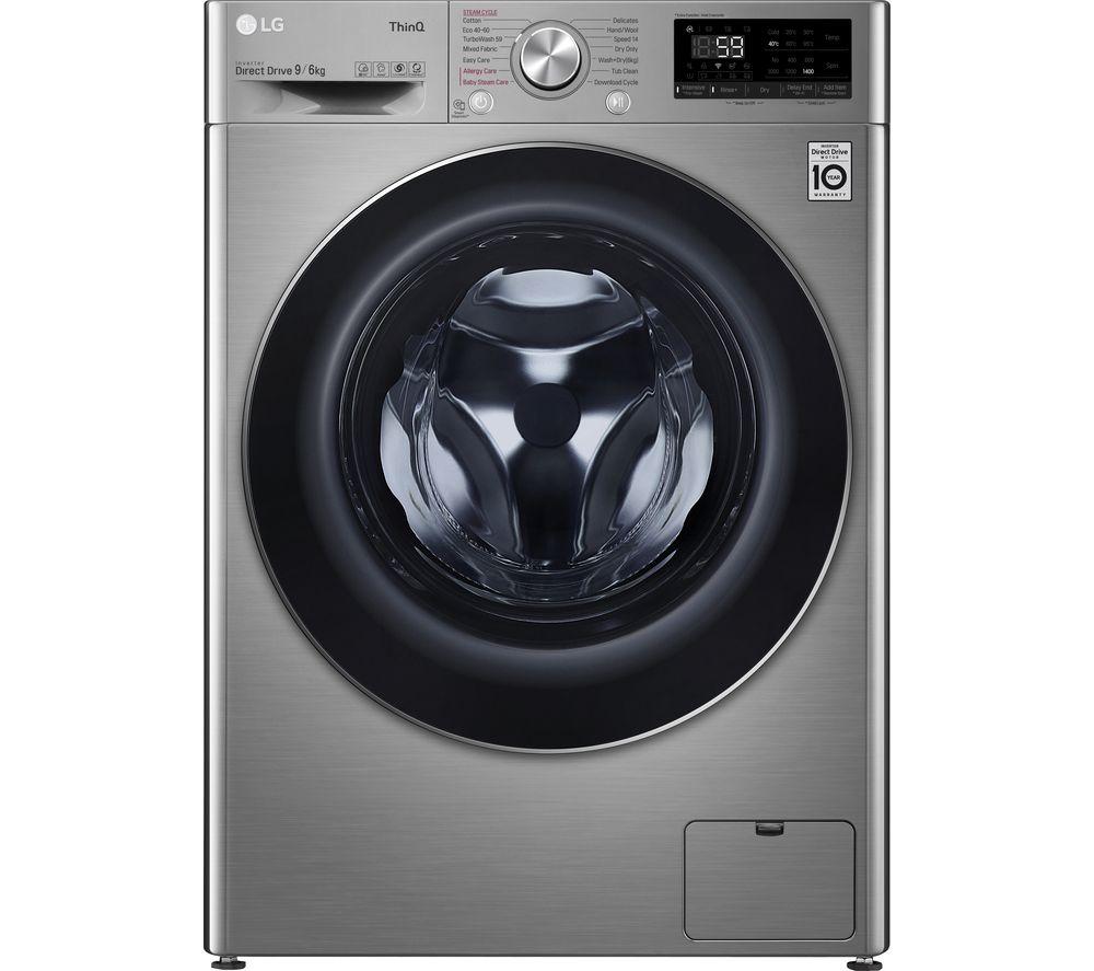 LG TurboWash with AI DD V7 FWV796STSE WiFi-enabled 9 kg Washer Dryer - Graphite