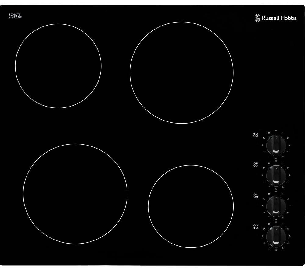 RUSSELL HOBBS RH60EH502B Electric Ceramic Hob - Black, Black