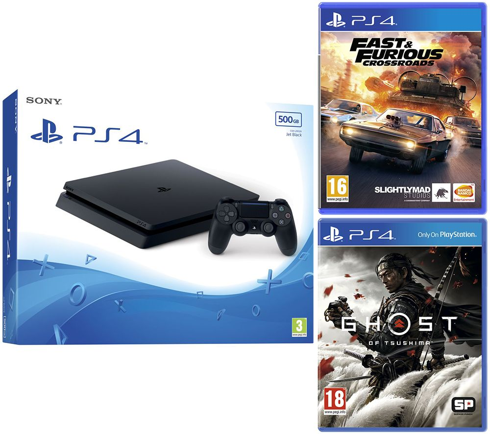 SONY PlayStation 4, Fast and Furious: Crossroads & Ghost of Tsushima Bundle - 500 GB