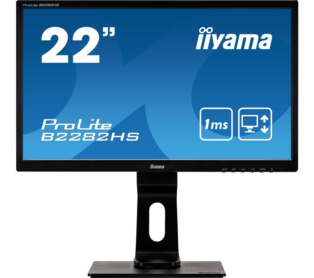 "IIYAMA ProLite B2282HS-B5 Full HD 22"" TN LED Monitor - Black"