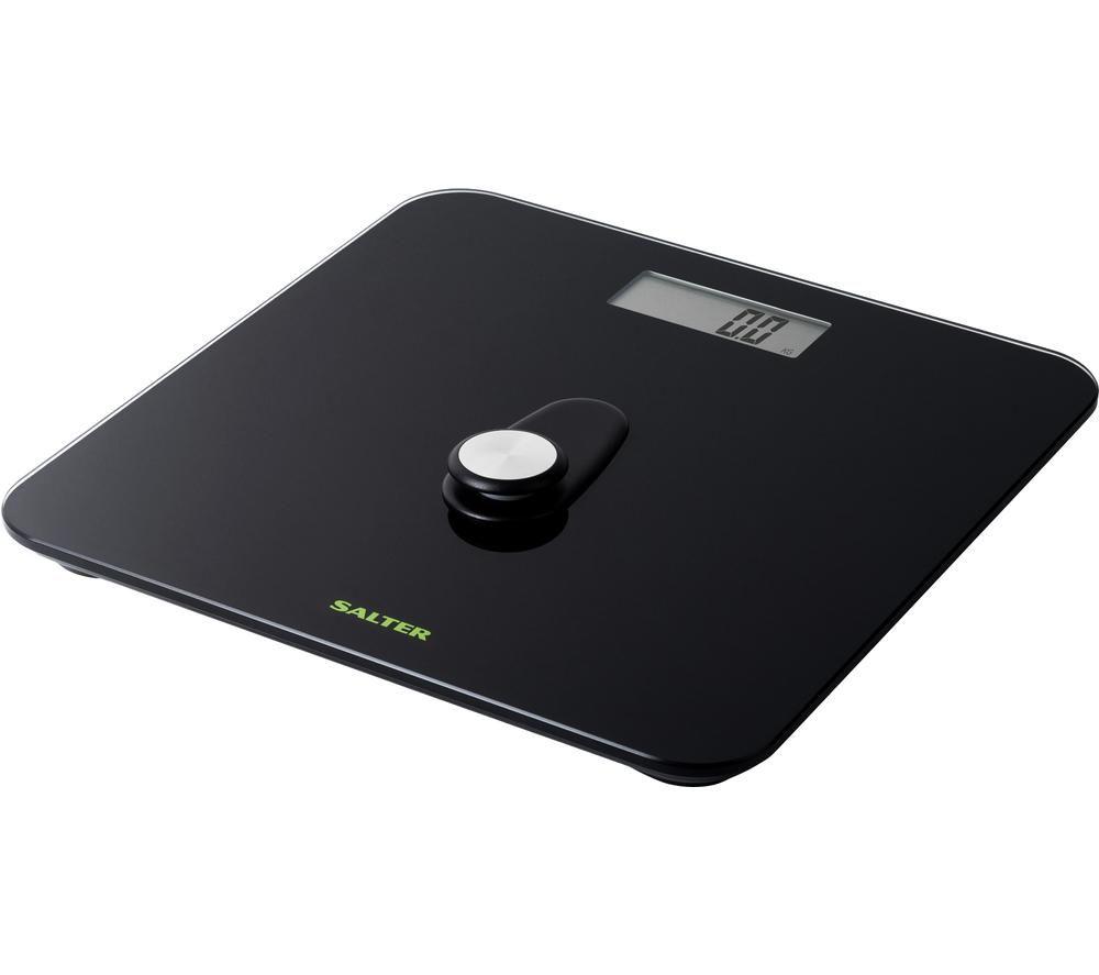 SALTER 9224 BKDR Eco Power Bathroom Scales - Black, Black