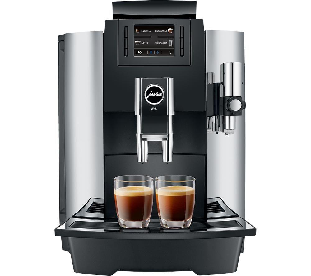 JURA Professional WE8 15317 Bean to Cup Coffee Machine - Chrome