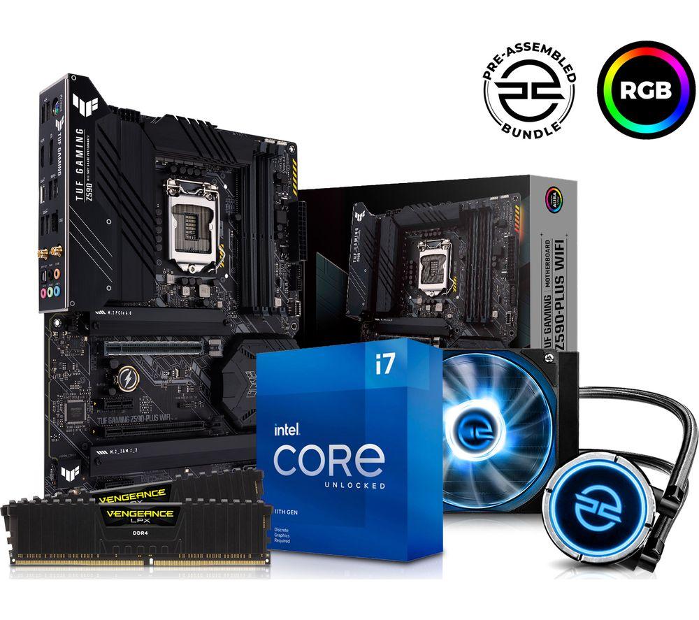 Image of PCSPECIALIST Intel® Core™ i7 Processor, TUF GAMING Motherboard, 16 GB RAM & FrostFlow Liquid Cooler Components Bundle