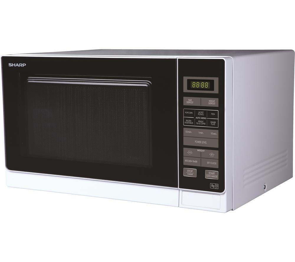 SHARP R372WM Solo Microwave - White, White