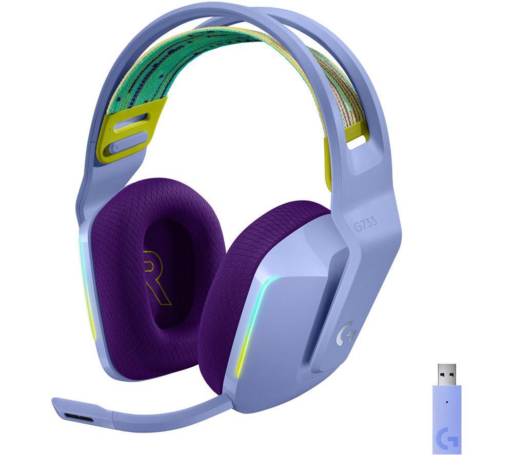 LOGITECH G733 LIGHTSPEED Wireless Gaming Headset - Lilac