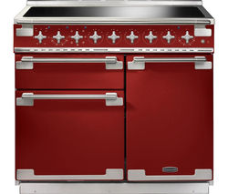 RANGEMASTER Elise 100 Electric Induction Range Cooker - Red & Chrome
