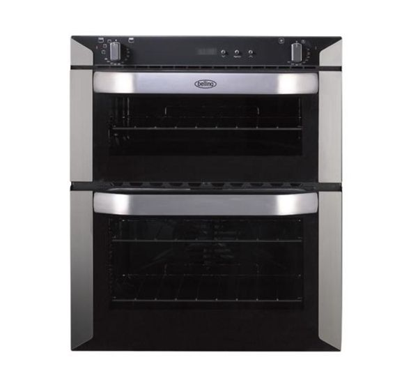 BELLING  BI70F Electric Built-under Double Oven – Stainless Steel, Stainless Steel