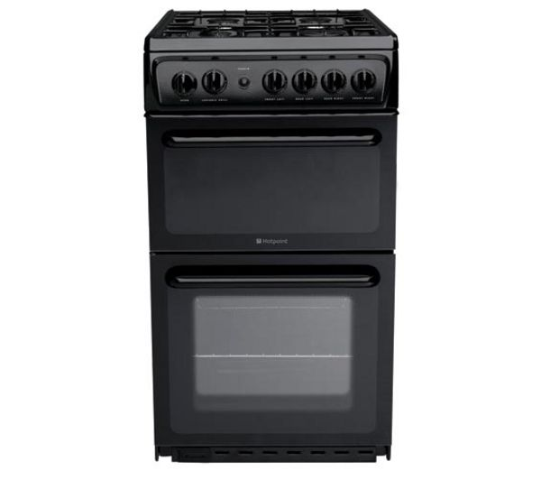 HOTPOINT HAG51K Gas Cooker - Black