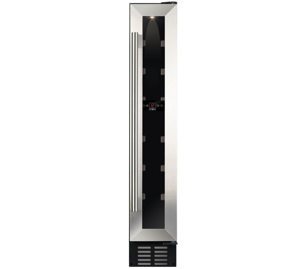 CDA FWC152SS Wine Cooler - Stainless Steel + CTL55P Undercounter Fridge - White