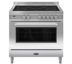 BRITANNIA Q Line 90 RC9SIQLS Electric Induction Range Cooker - Stainless Steel