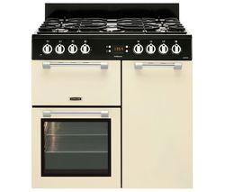 LEISURE Cookmaster CK90F232C 90 cm Dual Fuel Range Cooker - Cream Best Price, Cheapest Prices