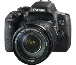 CANON EOS 750D DSLR Camera with EF-S 18-135 mm f/3.5-5.6 IS STM Lens
