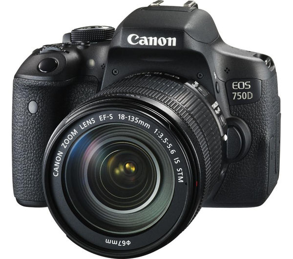 Image of CANON EOS 750D DSLR Camera with EF-S 18-135 mm f/3.5-5.6 IS STM Lens