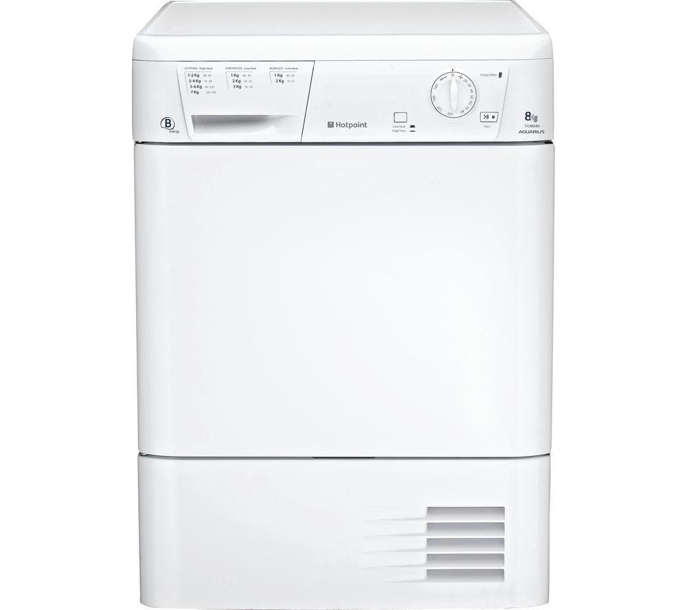 HOTPOINT Aquarius TCM580BP Condenser Tumble Dryer - White + WMFUG742P SMART Washing Machine - White